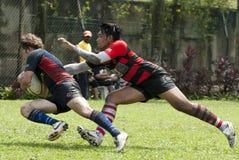 De Actie van het rugby Royalty-vrije Stock Afbeeldingen