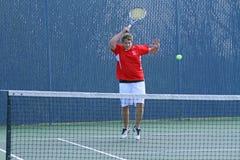 De Actie van het tennis Royalty-vrije Stock Afbeelding