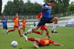 De actie van het voetbal Stock Afbeelding