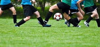 De Actie van het voetbal Stock Foto