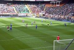 De actie van het voetbal Royalty-vrije Stock Afbeeldingen