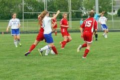 De Actie van het voetbal Stock Fotografie