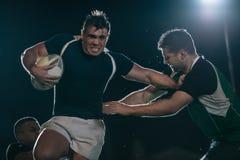 De actie van de rugbyliga royalty-vrije stock foto's