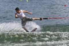 De Actie van Shortboard van mensen - Jaret Llewellyn Stock Foto's