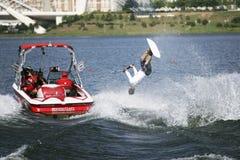 De Actie van Shortboard van mensen - Olivier Fortamps Stock Foto