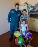 De actie van de Witrussische de portefeuillestudent ` van de brandbestrijders` toelage in het Gomel-gebied Stock Afbeelding