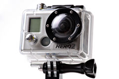 De actiecamera van GoPro HERO2 Stock Afbeelding