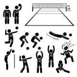 De Acties van de volleyballspeler stelt Houdingen Cliparts Royalty-vrije Stock Foto