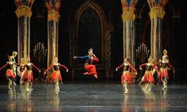 De actieve clown de atmosfeer-prins van bar het mitzvah-derde handeling-ballet Zwaanmeer stock afbeelding