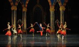 De actieve clown de atmosfeer-prins van bar het mitzvah-derde handeling-ballet Zwaanmeer stock fotografie