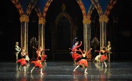 De actieve clown de atmosfeer-prins van bar het mitzvah-derde handeling-ballet Zwaanmeer royalty-vrije stock foto's