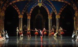 De actieve clown de atmosfeer-prins van bar het mitzvah-derde handeling-ballet Zwaanmeer royalty-vrije stock fotografie