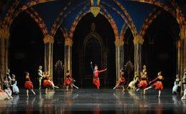 De actieve clown de atmosfeer-prins van bar het mitzvah-derde handeling-ballet Zwaanmeer stock foto