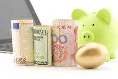 De actieve investering in wereldmarkten is succesvol Royalty-vrije Stock Afbeeldingen