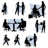 De actieve Vrouw Bedrijfs van Vrouwen vector illustratie