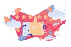 De Activiteit van de analysegebruiker in Sociale Vlakke Netwerken stock illustratie