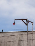 De activiteit van de bouw Bouwwerf met kraan Royalty-vrije Stock Afbeeldingen