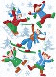 De activiteit van de winter Stock Foto