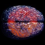 De activiteit van hersenen Stock Afbeelding