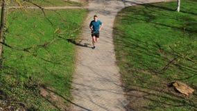 De activiteit van de trainingjogging stock footage