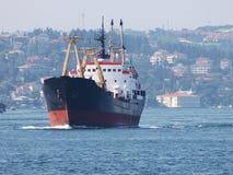 De activiteiten van de haven in Hamburg Stock Foto
