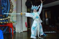 De actrice van de Opera van Sichuan stock foto