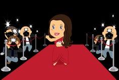 De Actrice van Hollywood royalty-vrije illustratie
