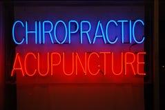 De Acupunctuur van de chiropraktijk Stock Afbeeldingen