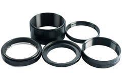 De adapter van macro-ringen. Stock Afbeelding