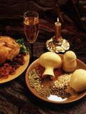 De additieven van de smaakstof aan de kip (voedselstijl) Stock Afbeeldingen
