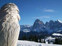 De adelaar en de bergen Royalty-vrije Stock Afbeelding