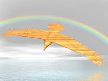 De adelaar van de regenboog royalty-vrije illustratie
