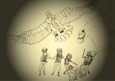 De adelaars van de besparingsburger royalty-vrije illustratie