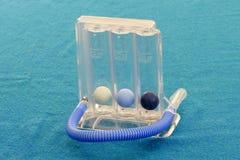 De Ademhalingsuitoefenaar van spirometerthreeflow Royalty-vrije Stock Afbeelding