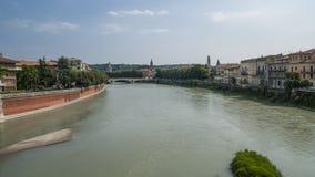 De Adige-Rivier Stock Foto's