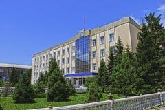 De administratieve bouw in Naryn Royalty-vrije Stock Foto