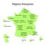 De administratieve kaart van Frankrijk met nieuwe gebieden stock illustratie
