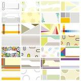 De adreskaartjes ontwerpen 90 x 50 mm Royalty-vrije Stock Afbeeldingen