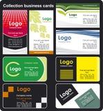 De adreskaartjes van de inzameling Stock Afbeelding