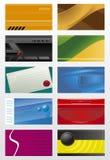 De adreskaartjes van de inzameling Stock Foto