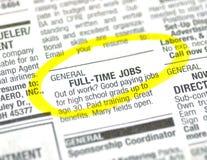 De advertentie van de baan Stock Fotografie