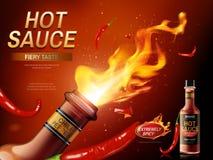 De advertentie van de Spaanse pepersaus Royalty-vrije Stock Afbeeldingen
