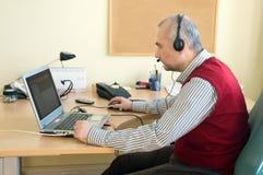 De adviseur van de helpdesk Stock Foto