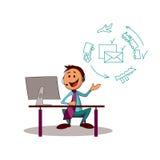 De adviseur van de leveringsdienst Stock Illustratie