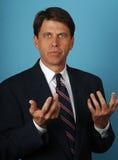De advocaat debatteert Zijn Geval Stock Foto's