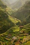 De aearial mening van dorp bij Anaga-park, Tenerife Royalty-vrije Stock Foto's