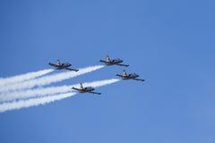 De aerobatic groep Russ Stock Afbeeldingen