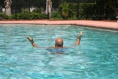 De aerobics van het water Stock Foto's