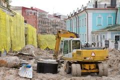 De afdaling van Andreevsky in Kyiv, de Oekraïne. Stock Fotografie