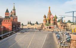 De Afdaling van gebiedsvasilevsky in Moskou Royalty-vrije Stock Afbeeldingen